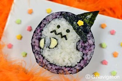 秋の絵巻き寿司