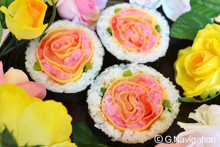 春の絵巻き寿司
