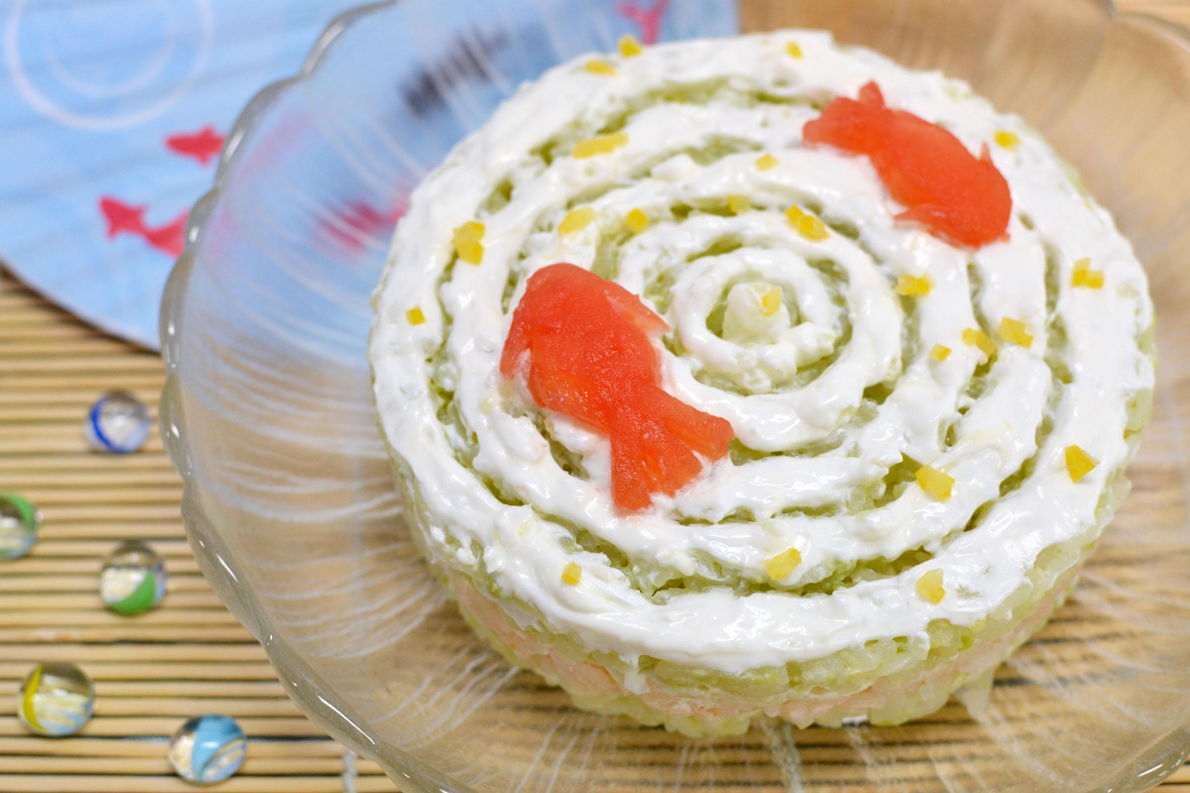 季節の寿司ケーキ
