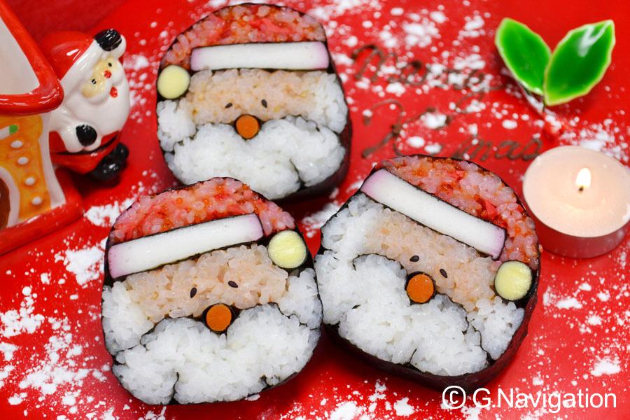 冬の絵巻き寿司